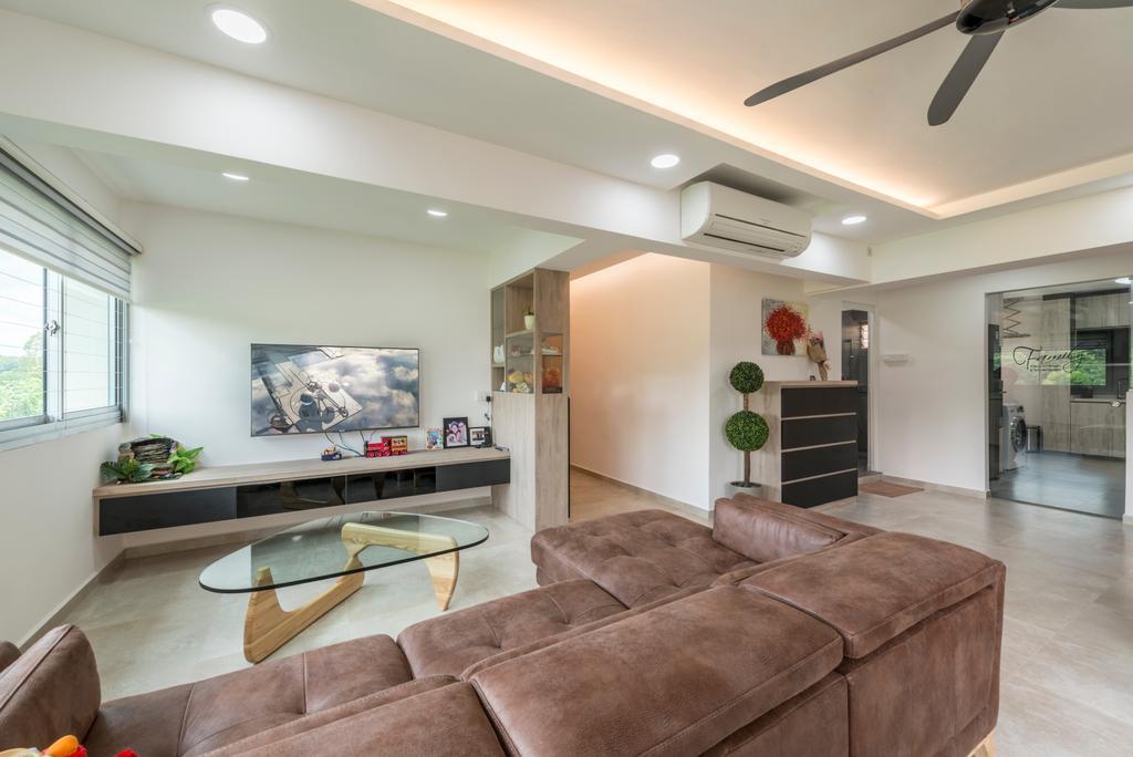 Contemporary, HDB, Living Room, Bishan Street 22 (Block 242), Interior Designer, Summit Design Studio, Couch, Furniture, Indoors, Interior Design