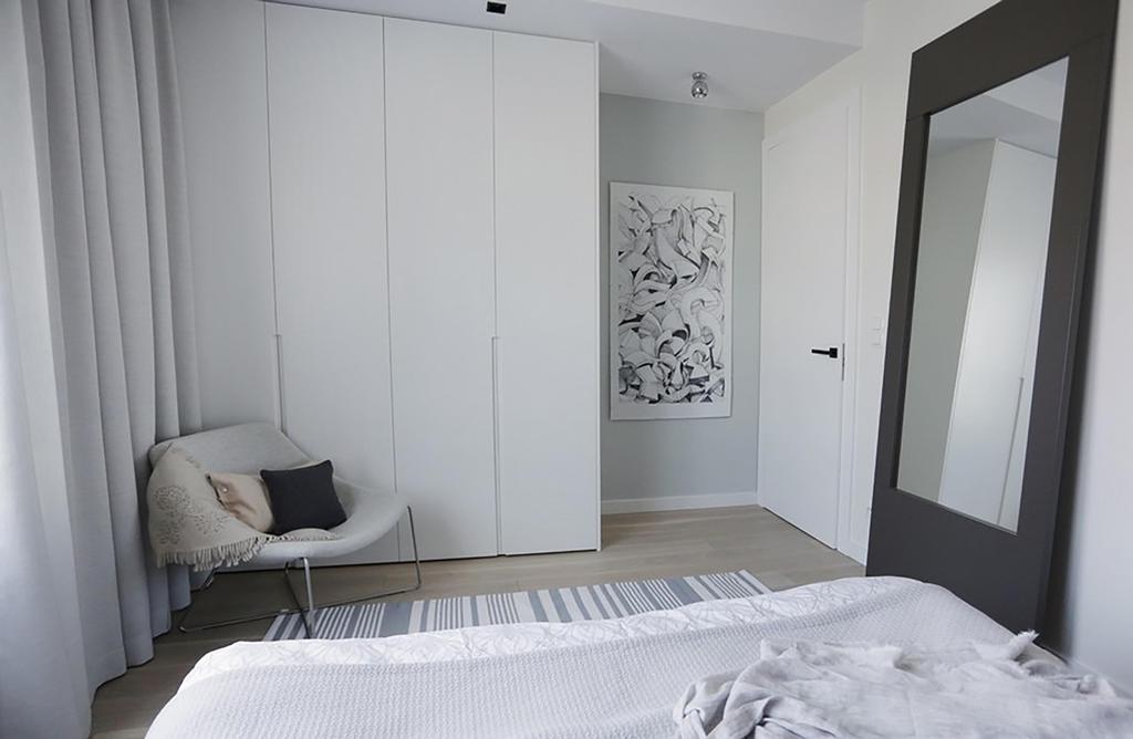 Minimalist, Condo, Bedroom, Poshgrove East, Interior Designer, ARK-hitecture, Industrial, Chair, Furniture, Indoors, Interior Design, Room, Bed