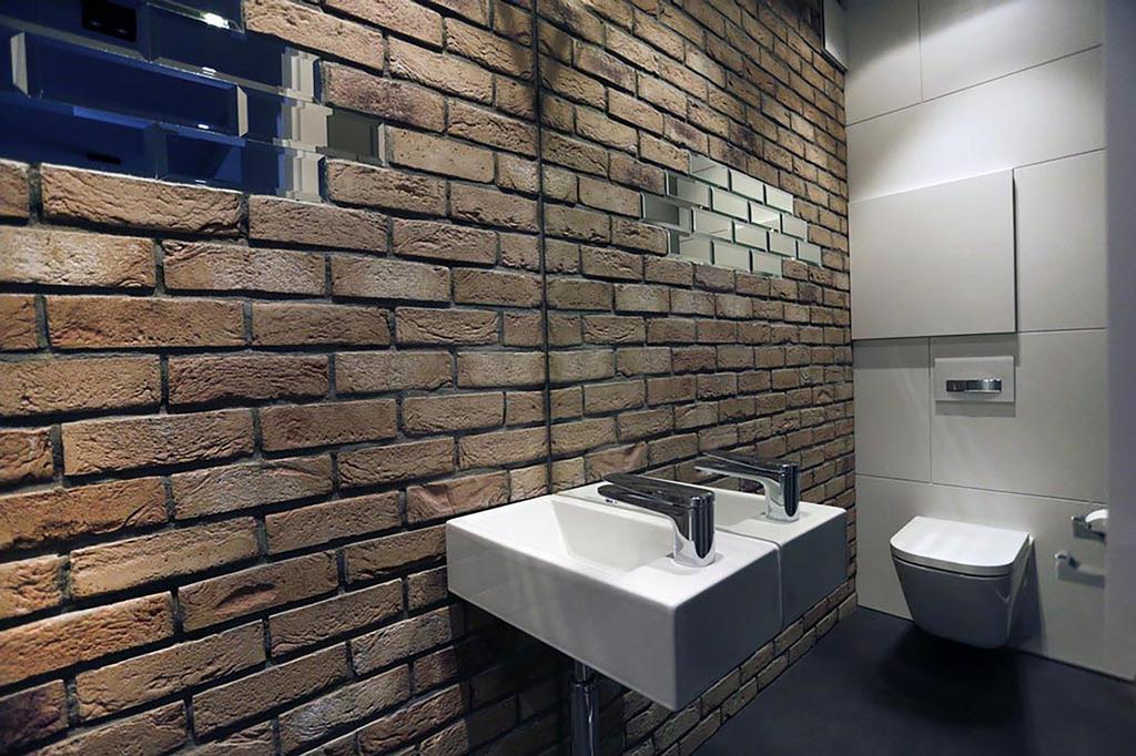 Minimalist, Condo, Bathroom, Poshgrove East, Interior Designer, ARK-hitecture, Industrial, Indoors, Interior Design, Room, Brick