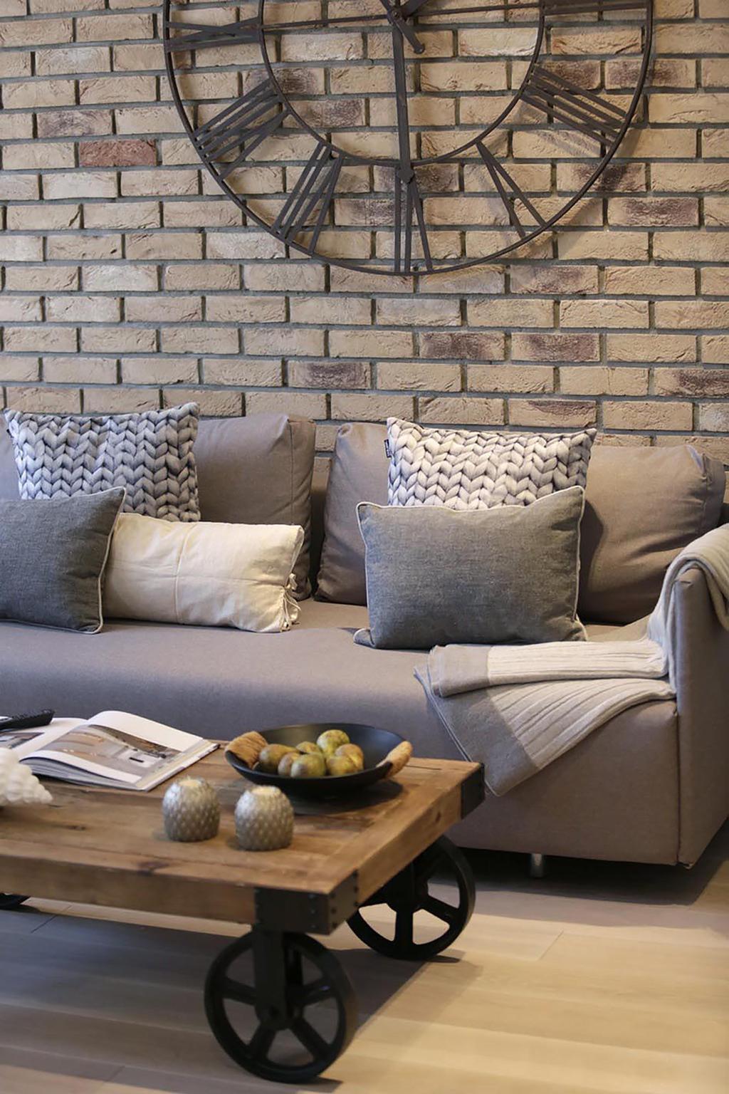 Minimalistic, Condo, Living Room, Poshgrove East, Interior Designer, ARK-hitecture, Industrial, Couch, Furniture, Chair