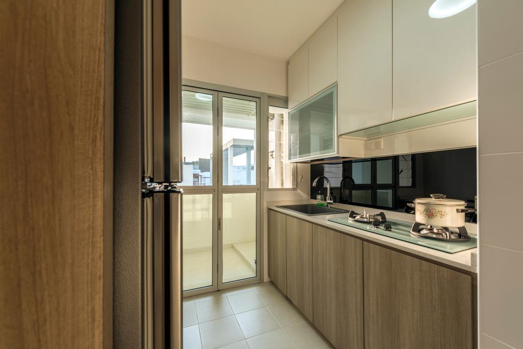 Industrial, HDB, Kitchen, Fernvale Road (Block 453A), Interior Designer, Tan Studio, Cooker