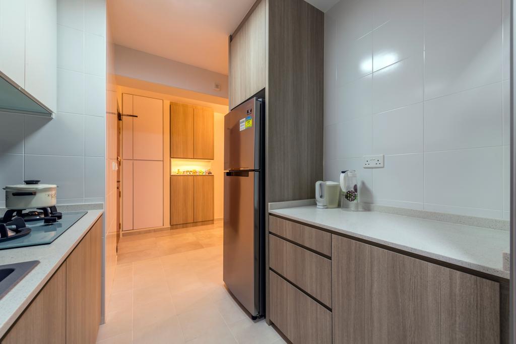Industrial, HDB, Kitchen, Fernvale Road (Block 453A), Interior Designer, Tan Studio, Bathroom, Indoors, Interior Design, Room