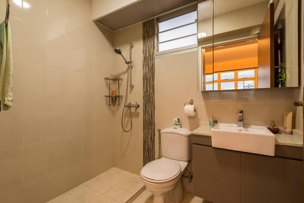 Industrial, HDB, Bathroom, Fernvale Road (Block 453A), Interior Designer, Tan Studio, Indoors, Interior Design, Room, Door, Sliding Door