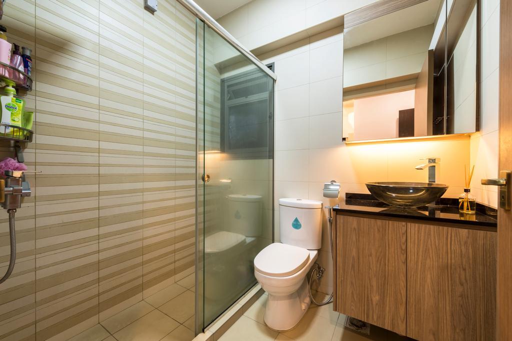Modern, HDB, Bathroom, Anchorvale Crescent, Interior Designer, Tan Studio, Contemporary, Indoors, Interior Design, Room, Door, Sliding Door, Building, Housing