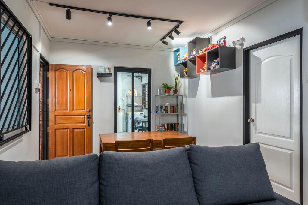 Modern, HDB, Living Room, Yishun Ring Road, Interior Designer, Tan Studio, Industrial, Couch, Furniture, Indoors, Interior Design, Room, Building, Housing