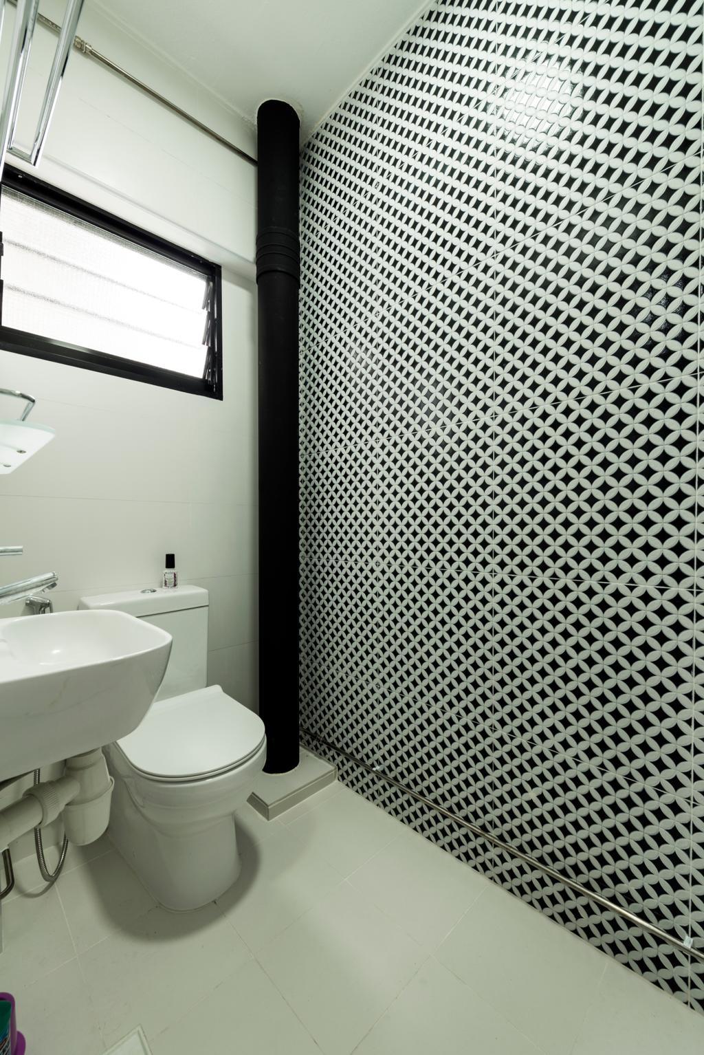 Modern, HDB, Bathroom, Yishun Ring Road, Interior Designer, Tan Studio, Industrial, Indoors, Interior Design, Room