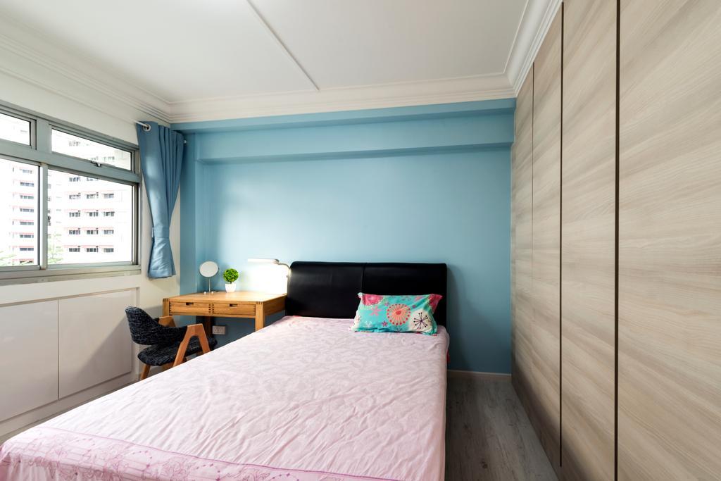 Scandinavian, HDB, Bedroom, Yung An Road, Interior Designer, Tan Studio, Minimalistic, Furniture, Indoors, Interior Design, Room