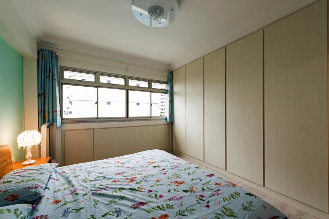 Yung An Road, Tan Studio, Scandinavian, Minimalistic, Bedroom, HDB, Indoors, Interior Design, Room, Home Decor, Quilt, Lamp, Bed, Furniture