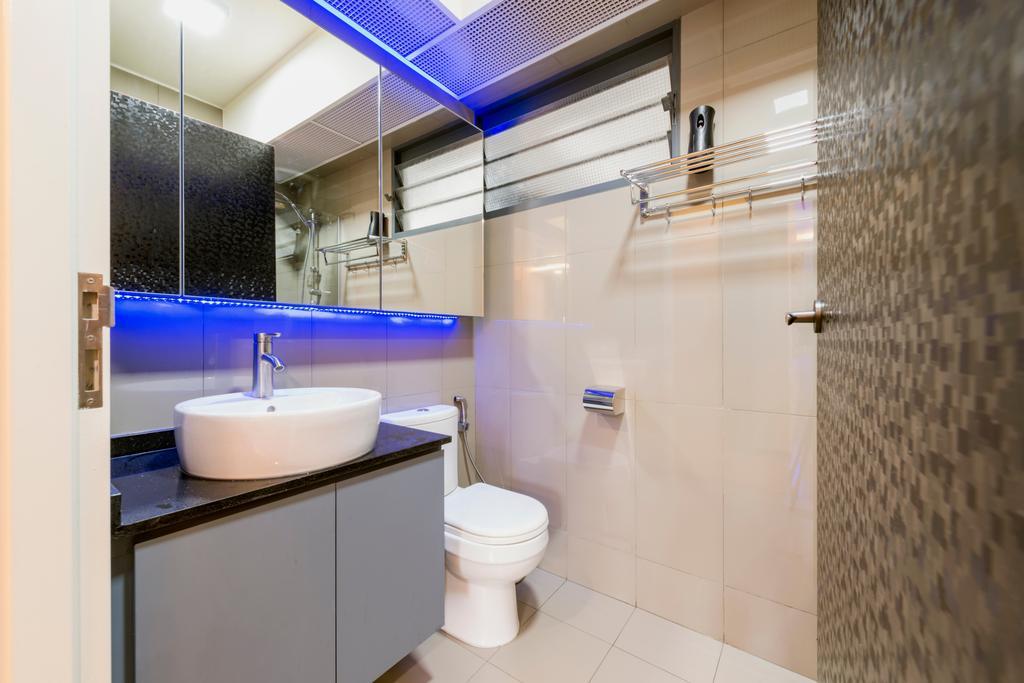 Eclectic, HDB, Bathroom, Punggol Walk, Interior Designer, Tan Studio, Toilet