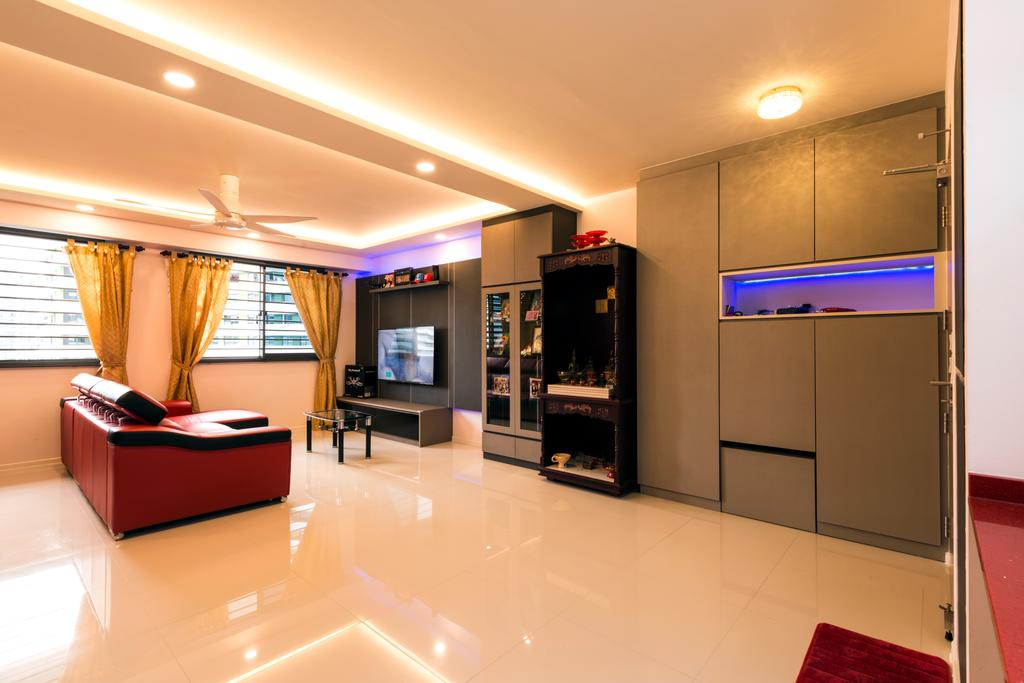 Eclectic, HDB, Living Room, Punggol Walk, Interior Designer, Tan Studio, Fireplace, Hearth, Indoors, Interior Design, Flooring