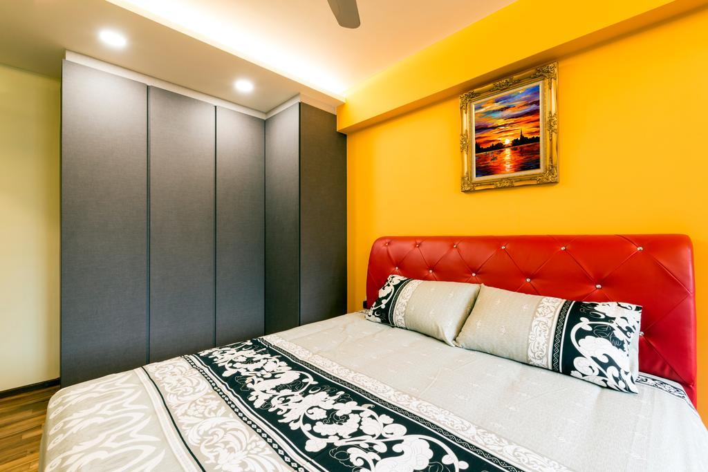 Eclectic, HDB, Bedroom, Punggol Walk, Interior Designer, Tan Studio, Art, Painting, Indoors, Room, Interior Design