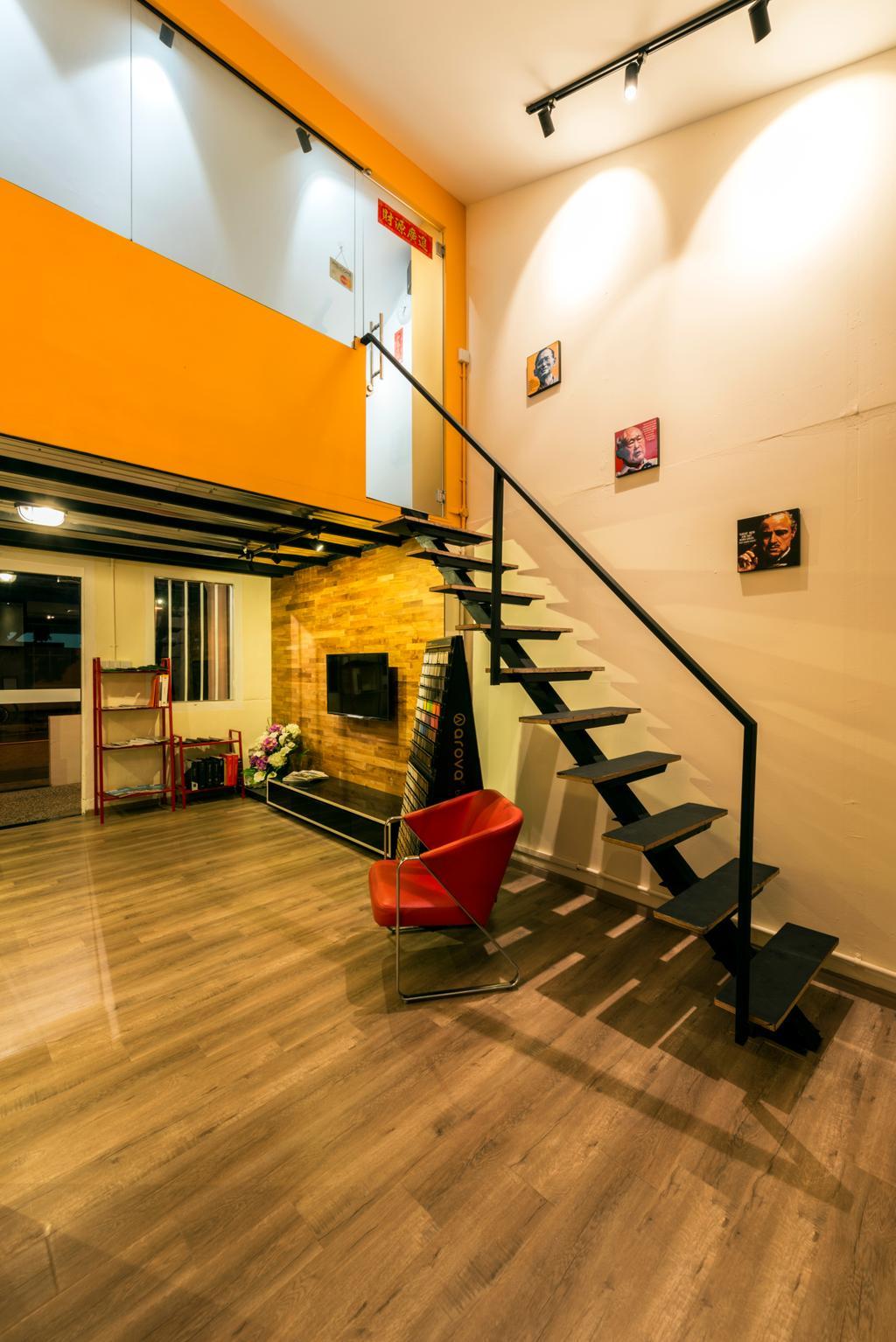 Chiku, Commercial, Interior Designer, Tan Studio, Industrial, Chair, Furniture, Banister, Handrail, Staircase, Indoors, Interior Design