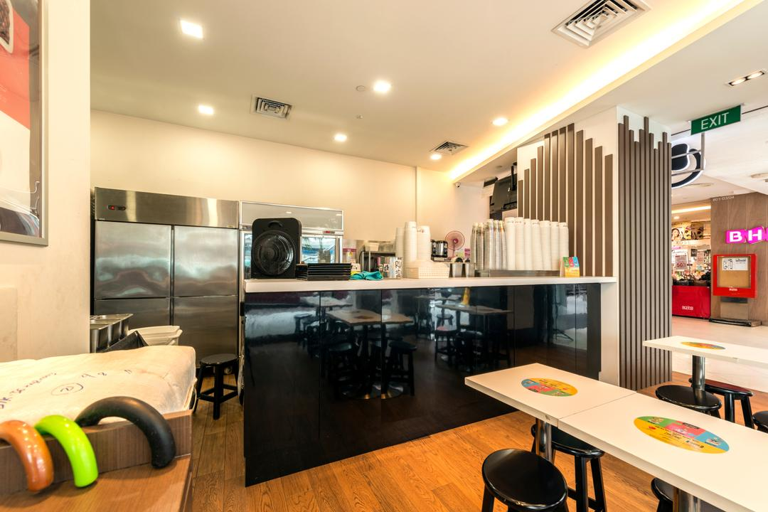 Choa Chu Kang Avenue 4, Tan Studio, Modern, Commercial, HDB, Building, Housing, Indoors, Kiosk, Chair, Furniture