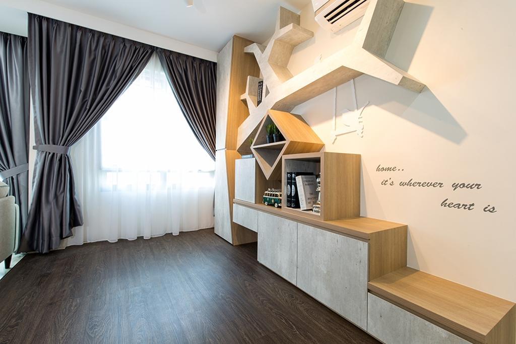 Modern, HDB, Living Room, Waterway Brooks, Interior Designer, Thom Signature Design, Scandinavian