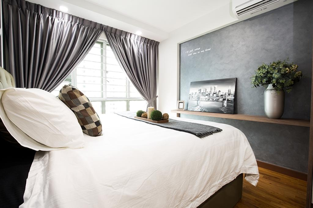 Modern, HDB, Bedroom, Waterway Brooks, Interior Designer, Thom Signature Design, Scandinavian