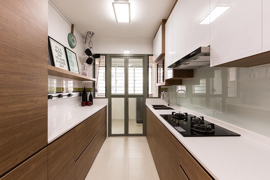 Modern, HDB, Kitchen, Waterway Brooks, Interior Designer, Thom Signature Design, Scandinavian