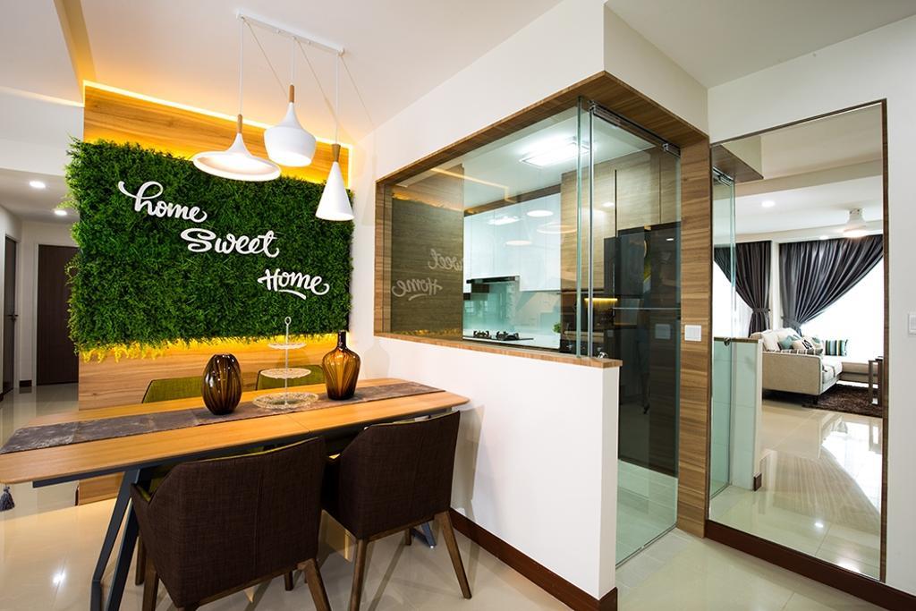 Modern, HDB, Dining Room, Waterway Brooks, Interior Designer, Thom Signature Design, Scandinavian