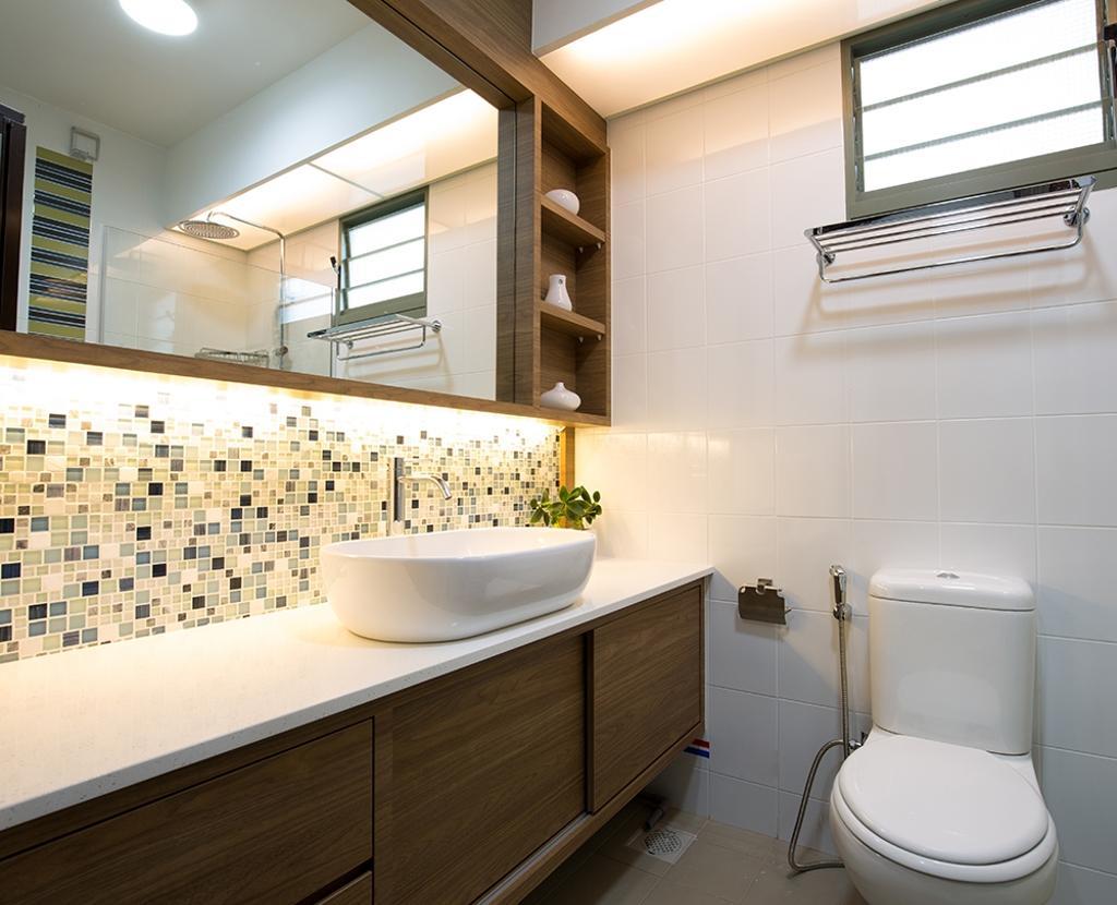 Modern, HDB, Bathroom, Waterway Brooks, Interior Designer, Thom Signature Design, Scandinavian