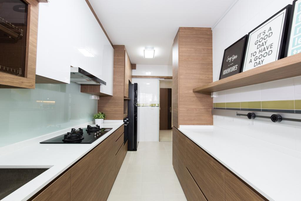 Modern, HDB, Kitchen, Waterway Brooks, Interior Designer, Thom Signature Design, Scandinavian