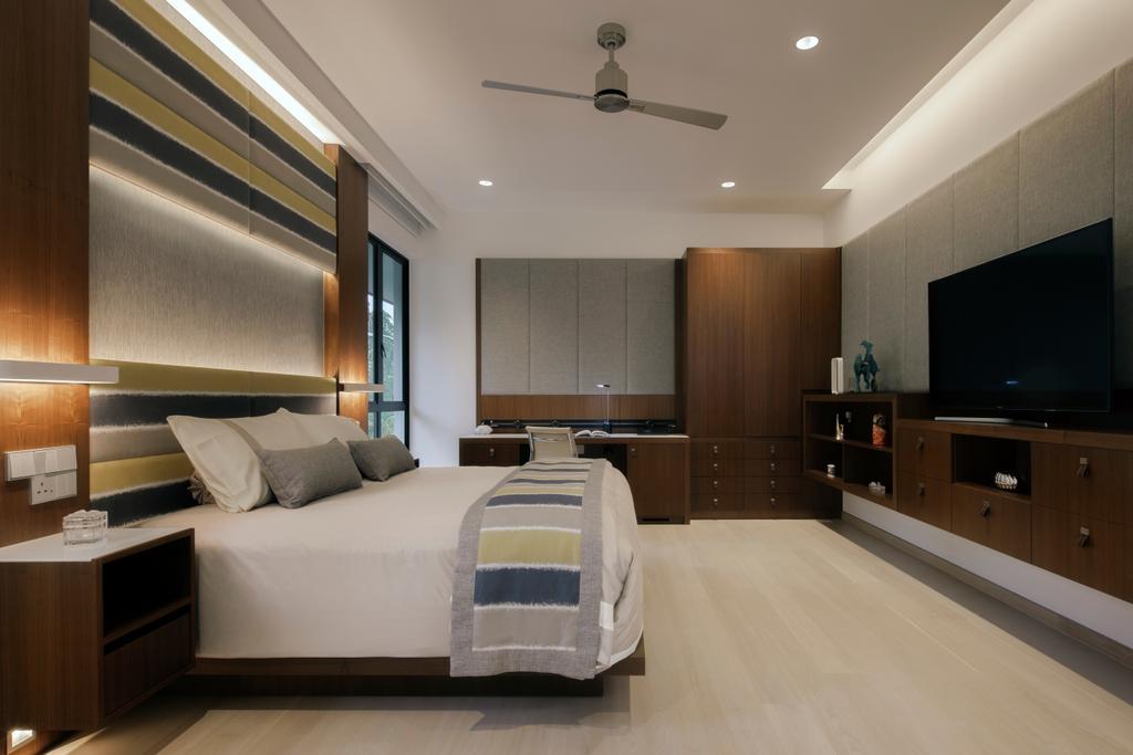 Modern, Landed, Bedroom, Kingmeads Roads, Interior Designer, Weiken.com, Closet, Furniture, Wardrobe, Bed, Indoors, Interior Design