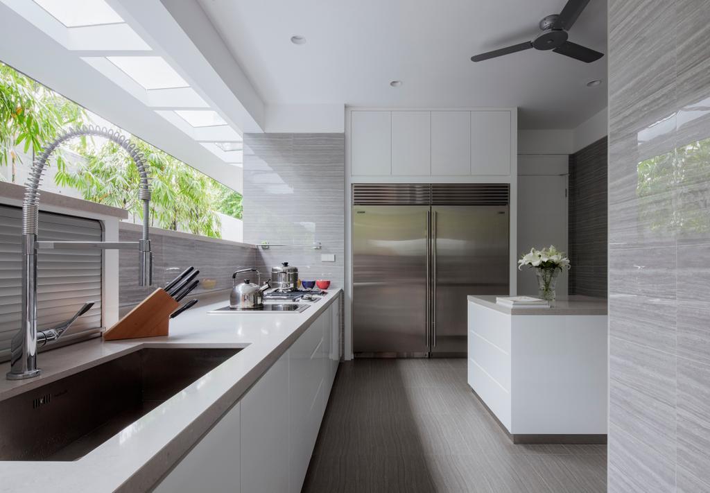 Modern, Landed, Kitchen, Kingmeads Roads, Interior Designer, Weiken.com, Indoors, Interior Design, Door, Sliding Door, Room