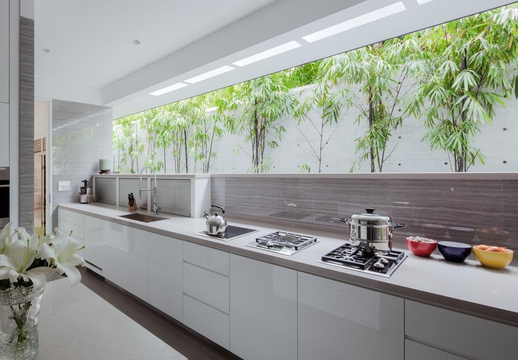 Modern, Landed, Kitchen, Kingmeads Roads, Interior Designer, Weiken.com, Flora, Jar, Plant, Potted Plant, Pottery, Vase, Bathroom, Indoors, Interior Design, Room
