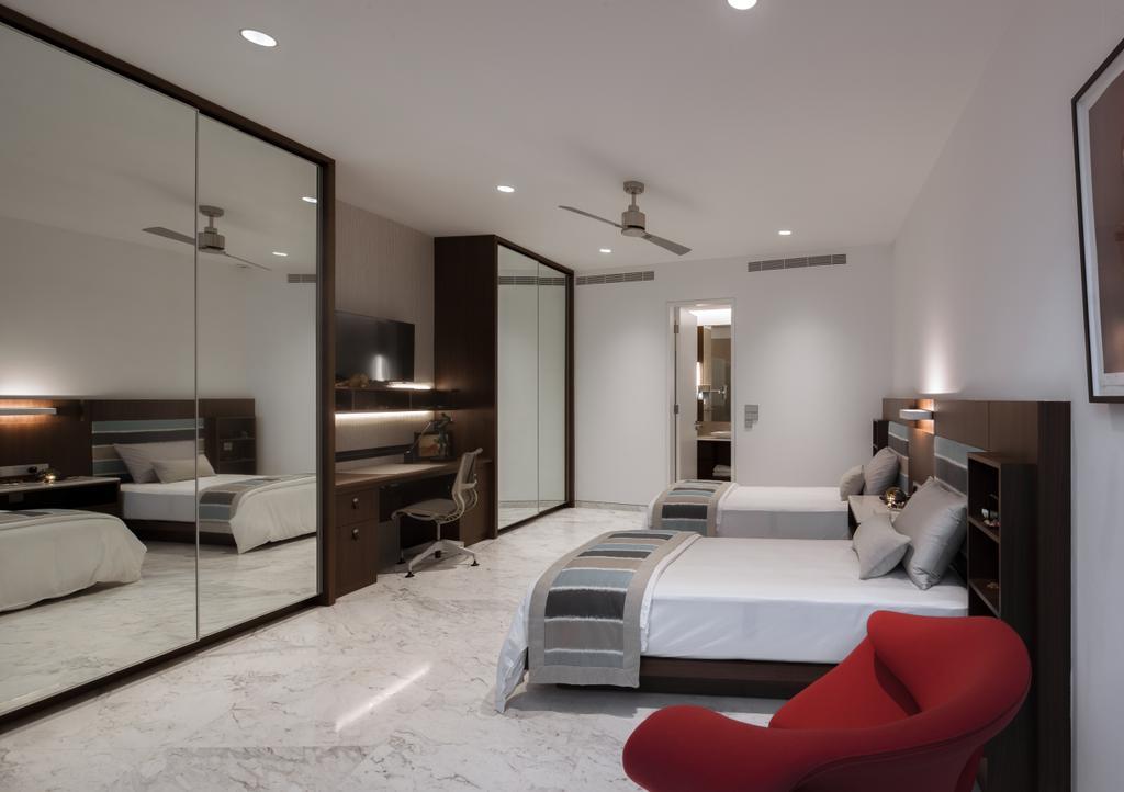 Modern, Landed, Bedroom, Kingmeads Roads, Interior Designer, Weiken.com, Indoors, Interior Design, Bed, Furniture, Room