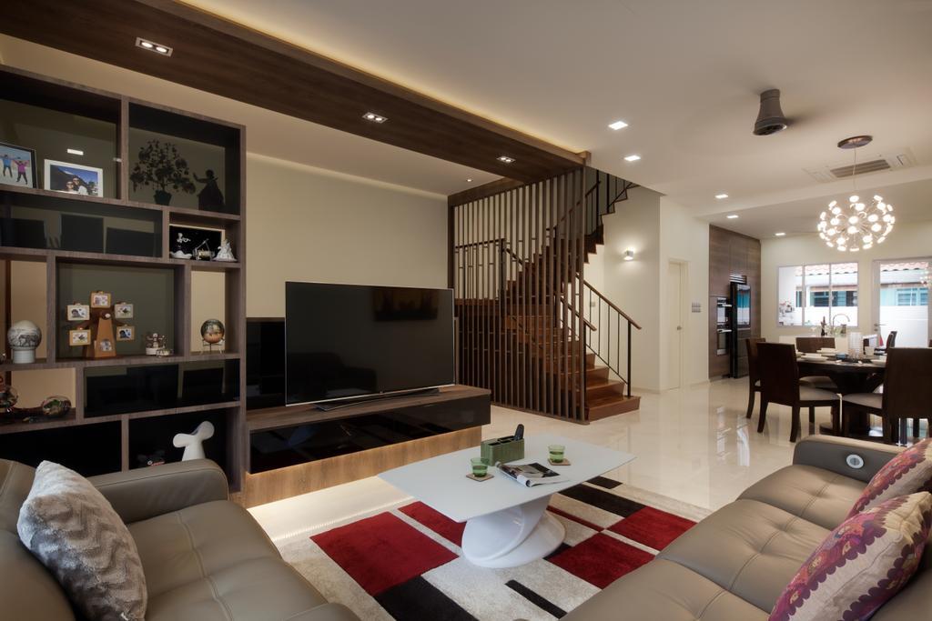 Modern, Landed, Living Room, Mimosa View, Interior Designer, Weiken.com, Couch, Furniture