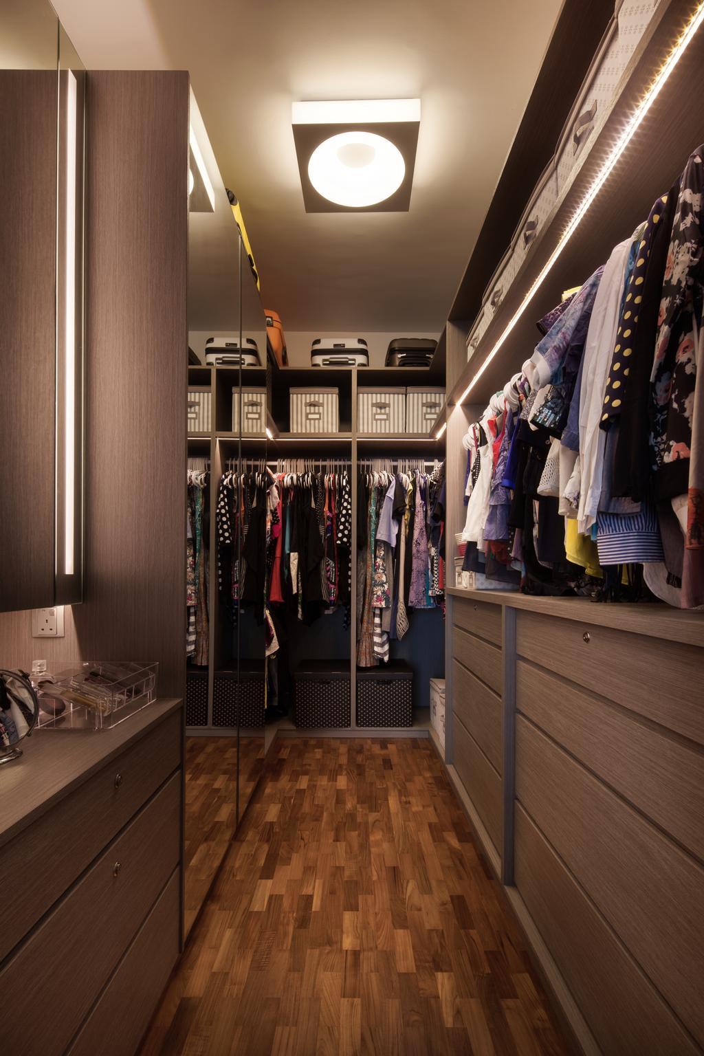 Modern, Landed, Bedroom, Mimosa View, Interior Designer, Weiken.com, Closet, Furniture, Wardrobe