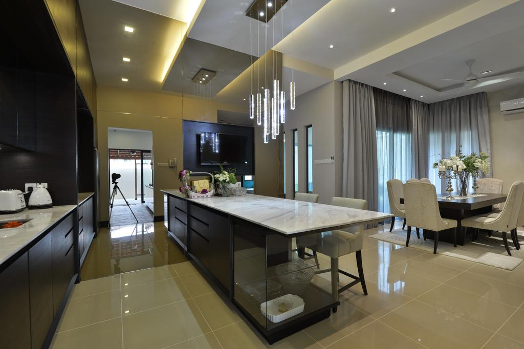 Contemporary, Landed, Kitchen, Kiara View, Interior Designer, Hoe & Yin Design Studio, Dining Table, Furniture, Table, Dining Room, Indoors, Interior Design, Room, Apartment, Building, Housing, Loft, Conference Room, Meeting Room