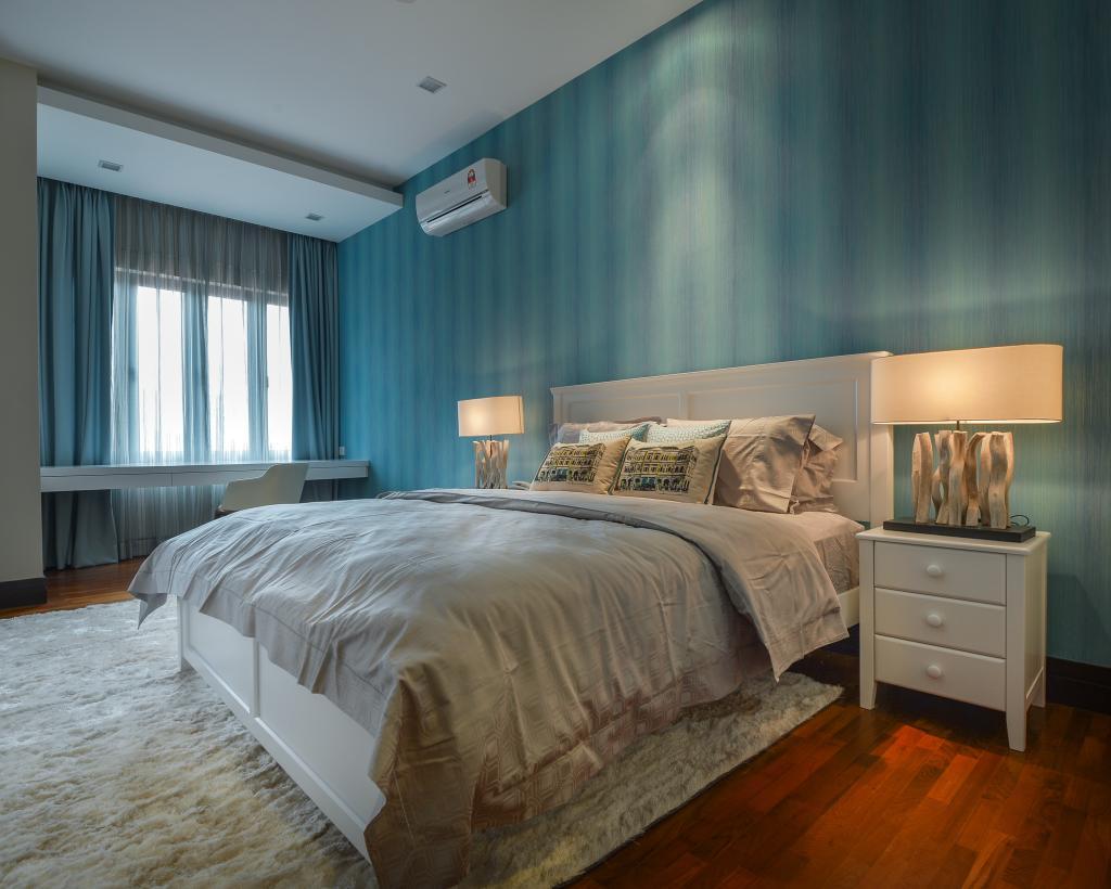 Contemporary, Landed, Bedroom, Kiara View, Interior Designer, Hoe & Yin Design Studio, Bed, Furniture