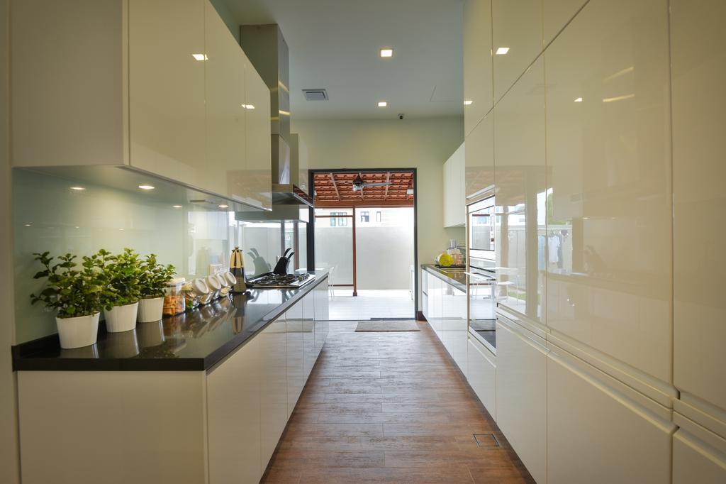 Contemporary, Landed, Kitchen, Kiara View, Interior Designer, Hoe & Yin Design Studio, Sink, Apartment, Building, Housing, Indoors, Loft, Interior Design