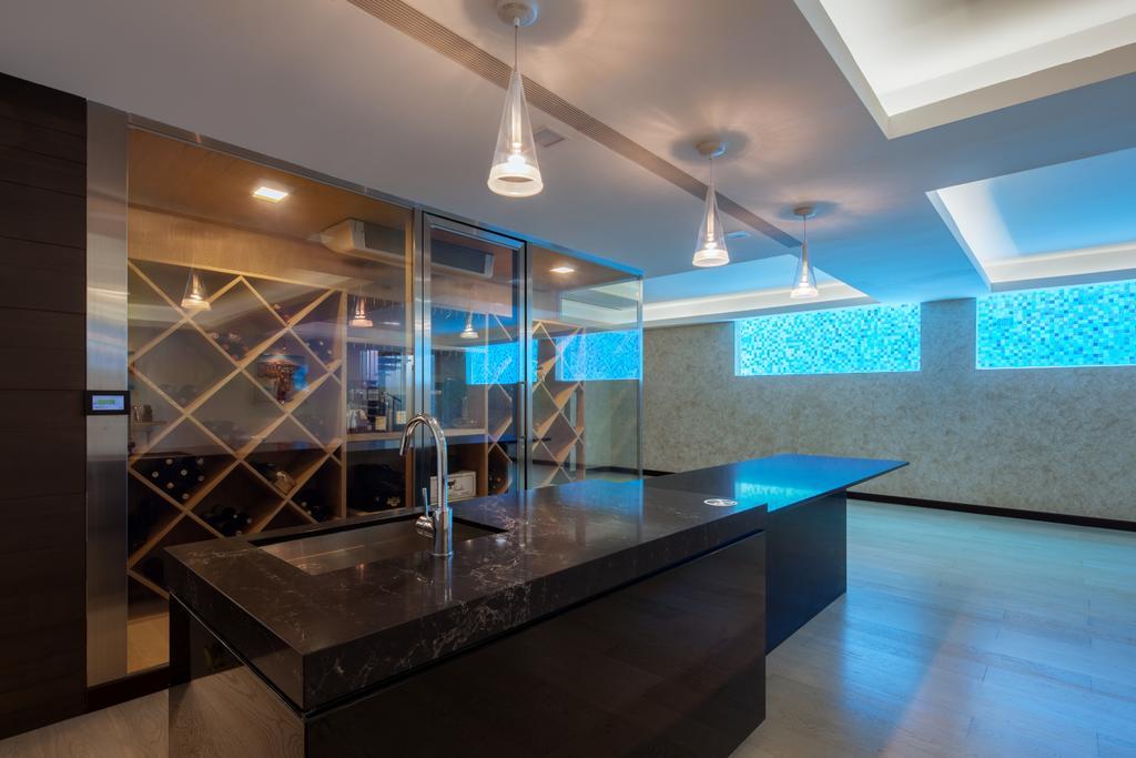 Modern, Landed, Kitchen, Carmicheal Road, Interior Designer, Weiken.com, Lighting