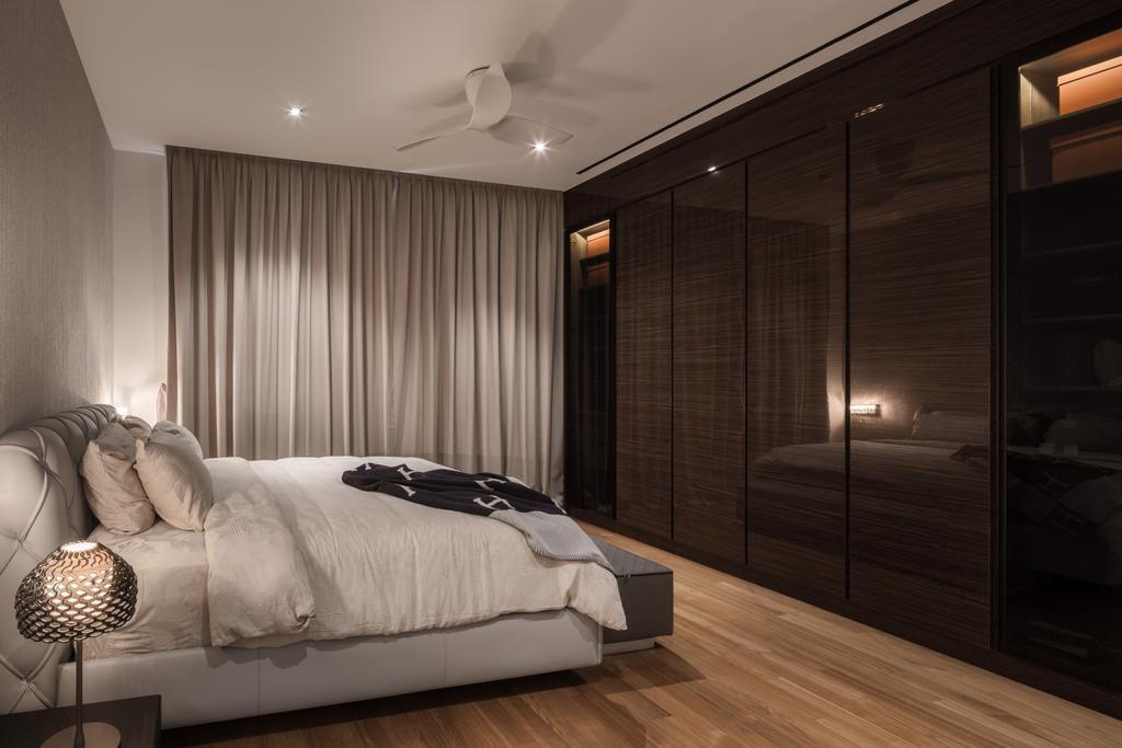 Modern, Landed, Bedroom, Carmicheal Road, Interior Designer, Weiken.com, Lamp, Bed, Furniture, Indoors, Interior Design, Room