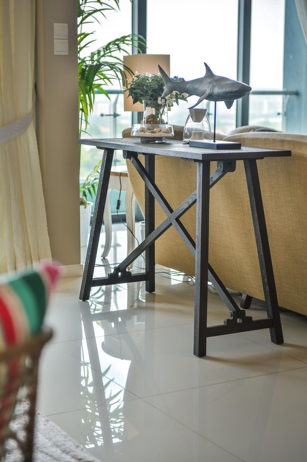 Contemporary, Condo, Living Room, Tropicana Grande, Interior Designer, Hoe & Yin Design Studio, Dining Table, Furniture, Table, Chair