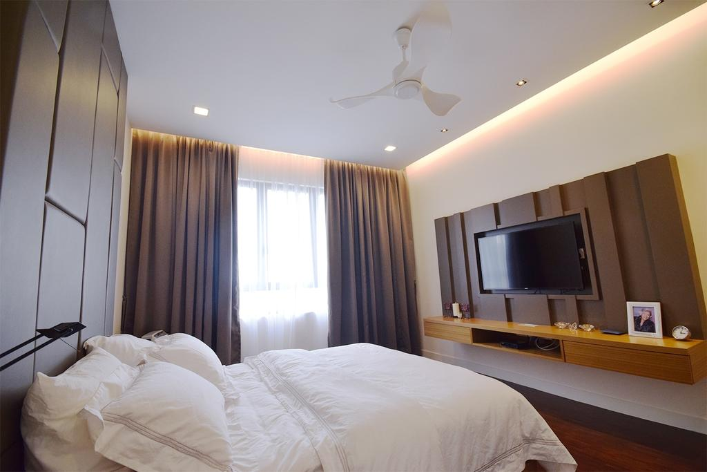 Modern, Condo, Bedroom, Windows On The Park, Interior Designer, The Grid Studio, Contemporary, Bed, Furniture, Indoors, Interior Design, Room
