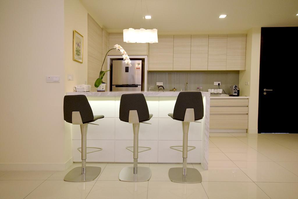 Modern, Condo, Kitchen, Windows On The Park, Interior Designer, The Grid Studio, Contemporary, Chair, Furniture