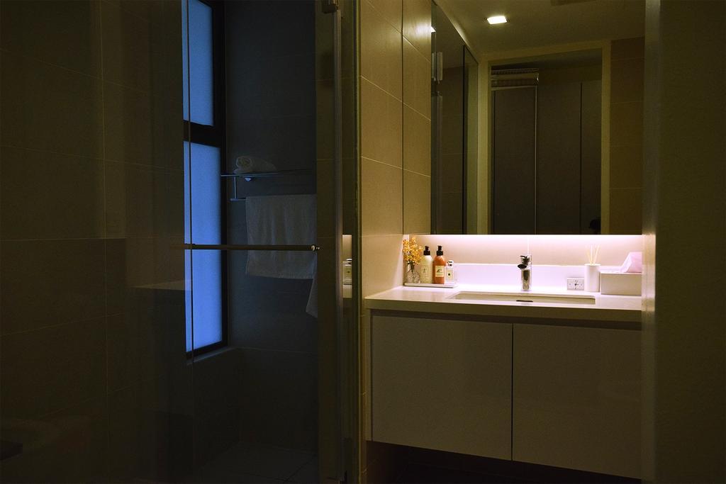 Modern, Condo, Bathroom, Windows On The Park, Interior Designer, The Grid Studio, Contemporary, Indoors, Interior Design, Room