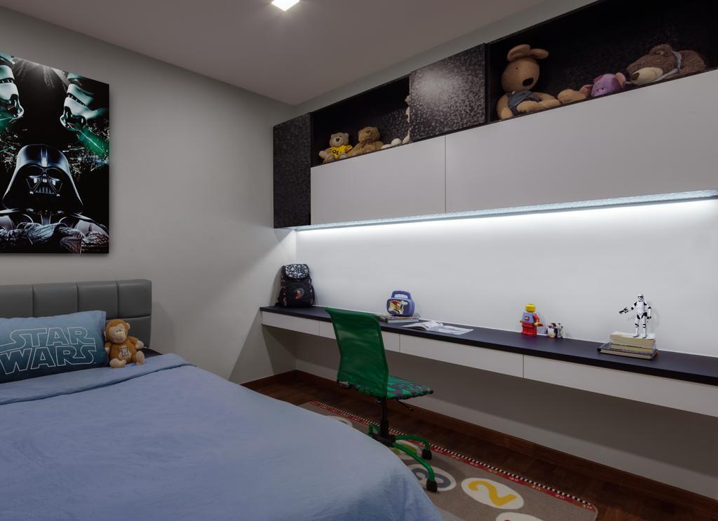 Modern, Condo, Bedroom, Jalan Sinar Bulan, Interior Designer, Weiken.com, Shelf, Poster