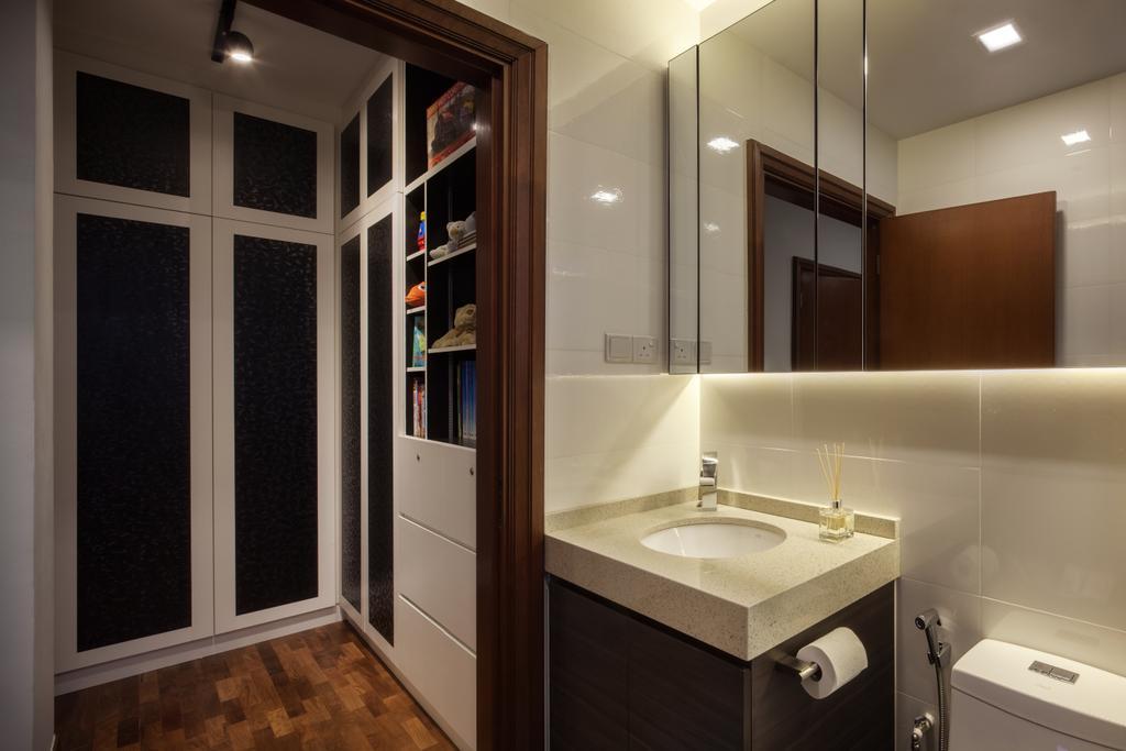 Modern, Condo, Bathroom, Jalan Sinar Bulan, Interior Designer, Weiken.com, Sink, Indoors, Interior Design, Room, Bookcase, Furniture