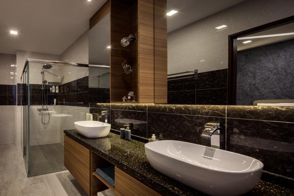 Modern, Condo, Bathroom, Jalan Sinar Bulan, Interior Designer, Weiken.com, Indoors, Interior Design, Room, Sink