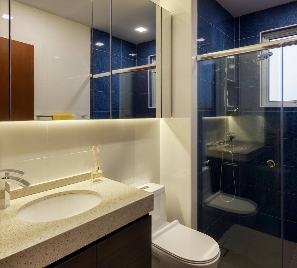 Modern, Condo, Bathroom, Jalan Sinar Bulan, Interior Designer, Weiken.com, Indoors, Interior Design, Room