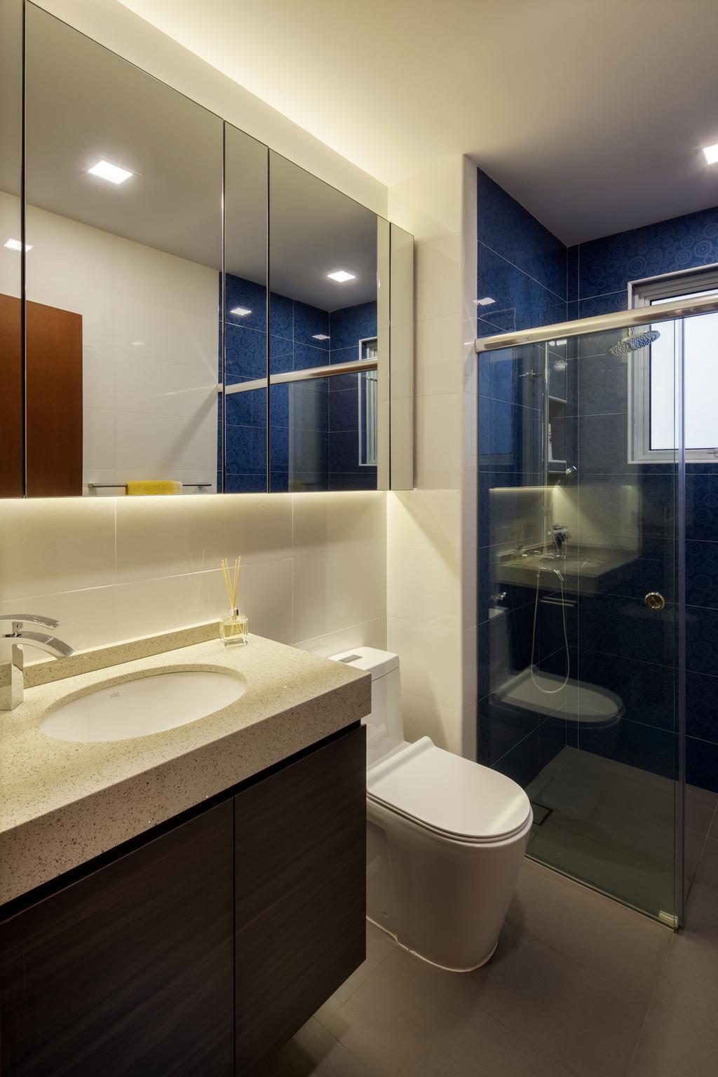 Modern, Condo, Bathroom, Jalan Sinar Bulan, Interior Designer, Weiken.com, Sink, Indoors, Interior Design, Room