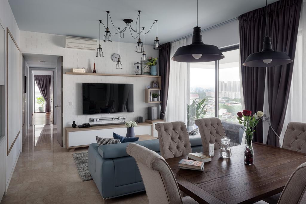 Contemporary, Condo, Dining Room, Ridgewood Close, Interior Designer, Weiken.com, Couch, Furniture, Fireplace, Hearth, Chair, Indoors, Room, Interior Design