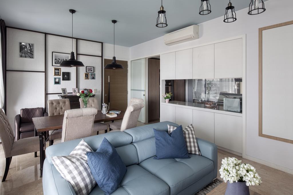 Contemporary, Condo, Living Room, Ridgewood Close, Interior Designer, Weiken.com, Couch, Furniture, Blossom, Flora, Flower, Flower Arrangement, Flower Bouquet, Ornament, Plant, Chair