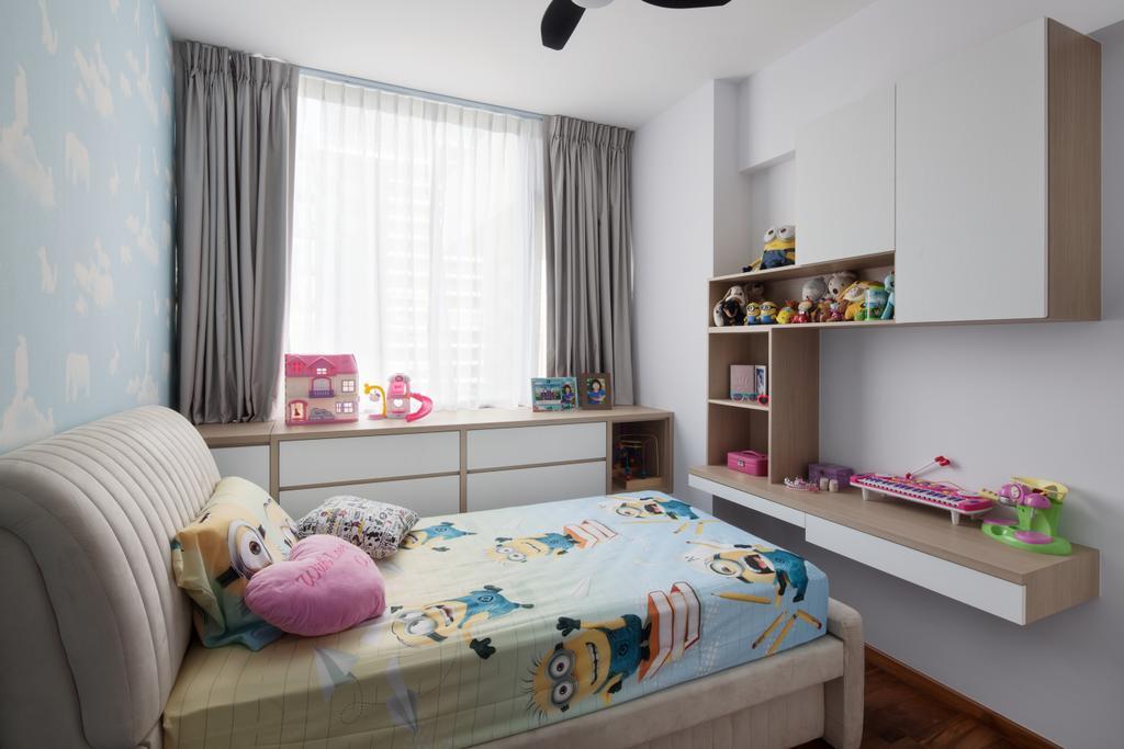Contemporary, Condo, Bedroom, Ridgewood Close, Interior Designer, Weiken.com, Kids Room, Children, Kids, Indoors, Interior Design, Room