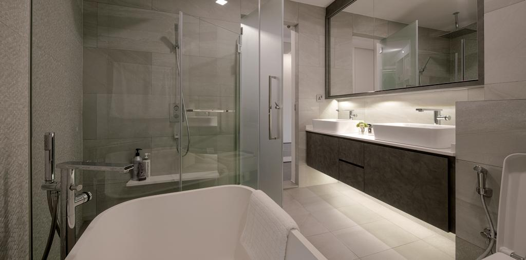 Modern, Condo, Bathroom, Gallop Gables, Interior Designer, Weiken.com, Indoors, Interior Design, Room