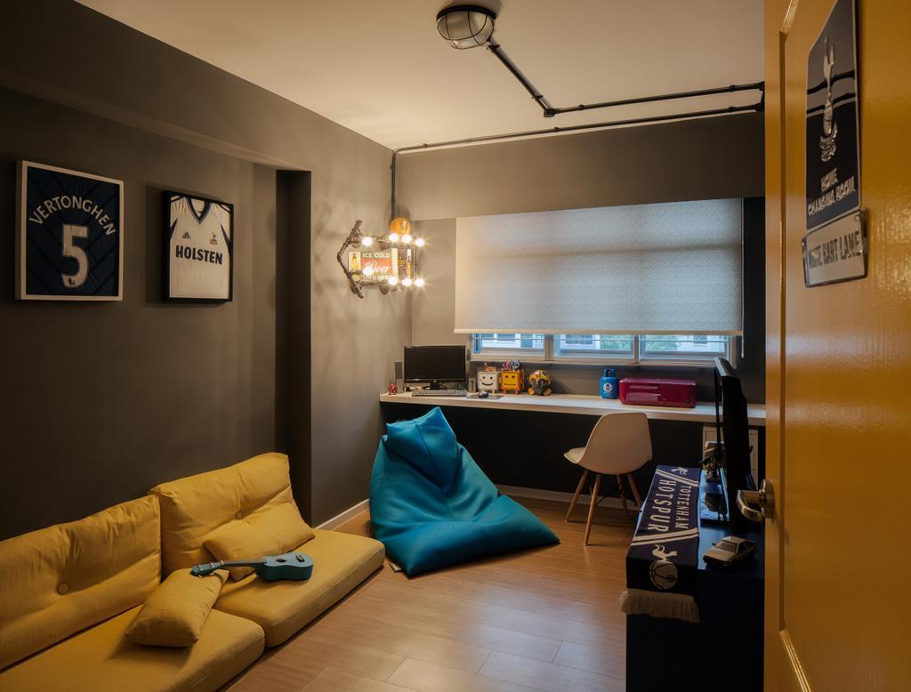 Scandinavian, HDB, Study, Choa Chu Kang Avenue 5, Interior Designer, Weiken.com, Couch, Furniture, Building, Housing, Indoors, Chair
