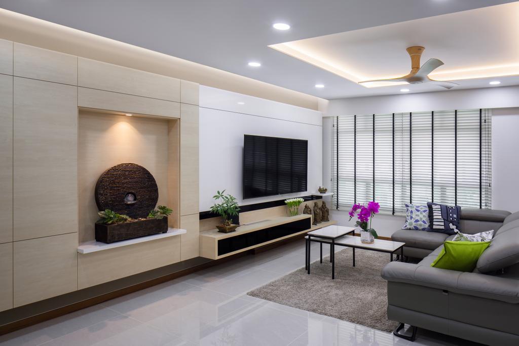Modern, HDB, Living Room, Keat Hong Link, Interior Designer, Weiken.com, Indoors, Interior Design, Dining Table, Furniture, Table, Couch