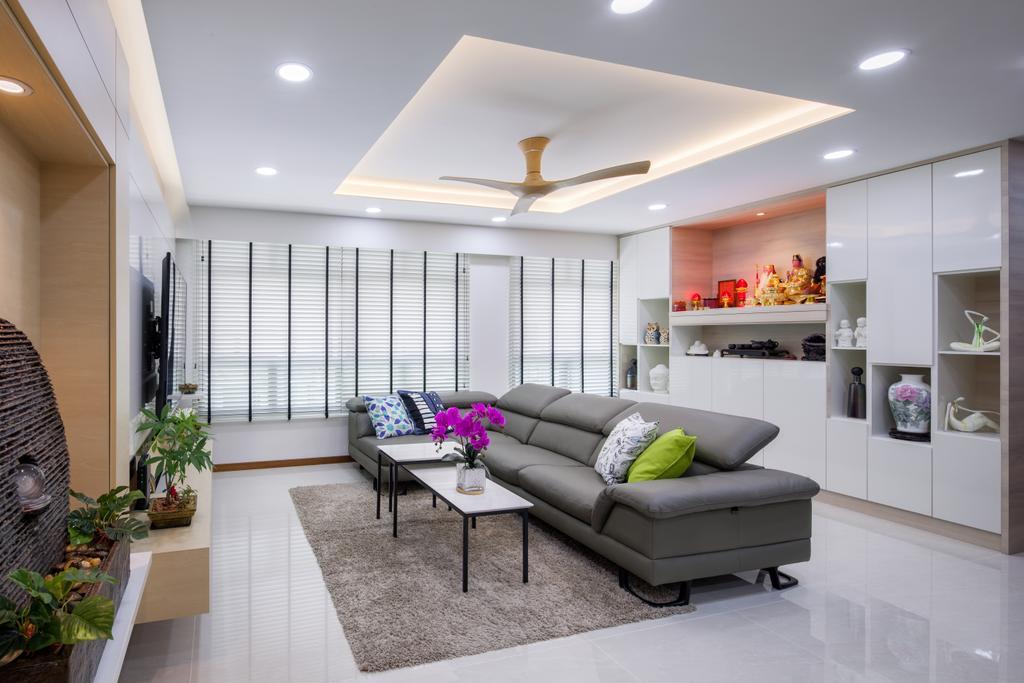 Modern, HDB, Living Room, Keat Hong Link, Interior Designer, Weiken.com, Flora, Jar, Plant, Potted Plant, Pottery, Vase, Indoors, Room, Interior Design
